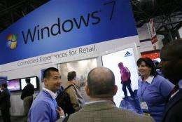 Microsoft fiscal 2Q earns up 60 pct on PC rebound (AP)