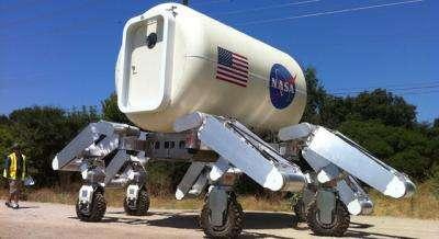 NASA's ATHLETE Warms Up for High Desert Run
