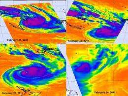 NASA tracks the brief life of Tropical Cyclone Atu in the southern Pacific