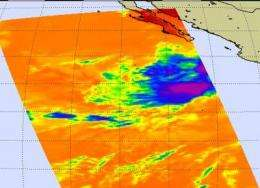 Once a depression, 6E now a remnant, NASA imagery shows little strength left