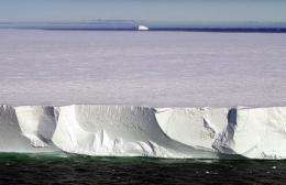 Photo illustration of a massive iceberg