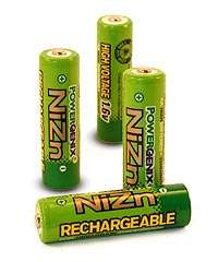 PowerGenix NiZn rechargeable AA batteries