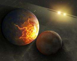 Pulverized planet dust might lie around double stars