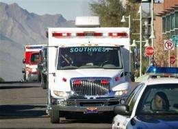 Rep. Gabrielle Giffords leaves hospital for rehab (AP)