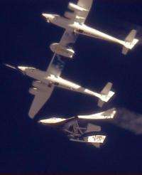 SpaceShipTwo could carry paying customers into suborbital space by early 2012