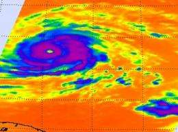 Stunning NASA infrared imagery of Hurricane Igor reveals a 170 degree temperature difference
