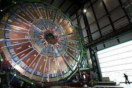 The particle collider is inside a 27-kilometre tunnel straddling the Franco-Swiss border near Geneva