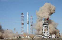 The rocket took off from the cosmodrome in  Kazakhstan