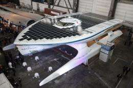 The solar powered boat