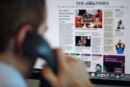 The Times's headline circulation figure in September was 486,868 -- down nearly 15 percent from the previous year