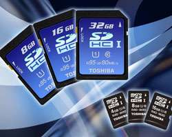 Toshiba to Launch the World's Fastest SDHC Memory Card