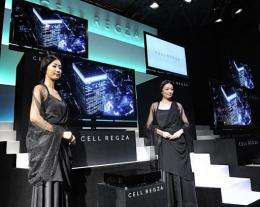 Toshiba unveils a television set