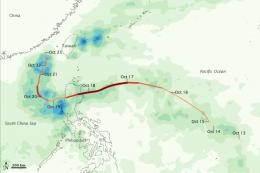 Typhoon Megi unleashes its wrath