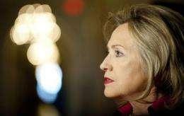 US Secretary Hillary Clinton