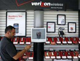 Verizon adds few contract customers in 1Q (AP)