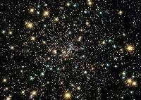 View of a star cluster in outer space