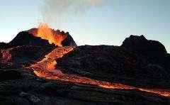 volcano, lava