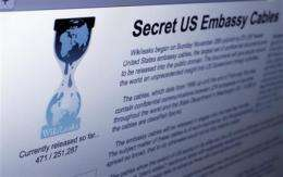 WikiLeaks fights to stay online amid attacks (AP)