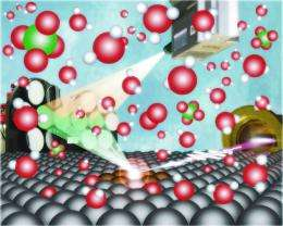 X-rays probe model fuel-cell catalyst