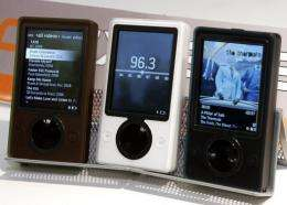 Zune software has been upgraded and synchronized to work with smartphones running on Windows Phone 7 software