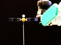 A new system for locating and capturing satellites in space