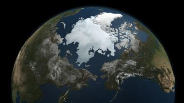 Arctic sea ice captured by satellite