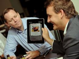 Customers at the Global Mundo Tapas restaurant can order meals on an iPad