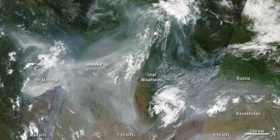 Fires and Smoke in Russia