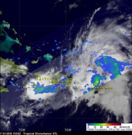 NASA satellites see System 97L serve up a soaking