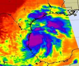 NASA saw strong T-storms in quick-forming Hermine's center, warm water to power it