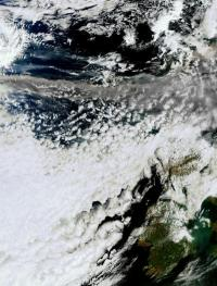 New satellite image of volcanic ash cloud