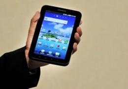 Samsung's new tablet device, the