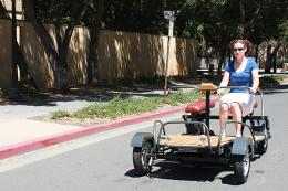 Stanford students' new electric car breaks the mold, not the bank