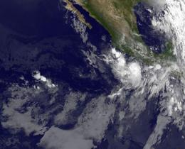 NASA satellites see Tropical Storm Frank powering back up near Mexico
