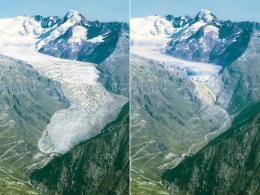 Do Atlantic currents affect Alpine glacier melting?