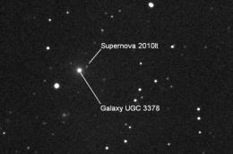 10-year-old girl discovers a supernova