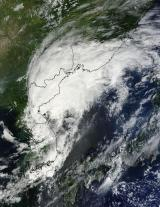 NASA satellite sees Tropical Storm Kompasu transitioning over Korea and China