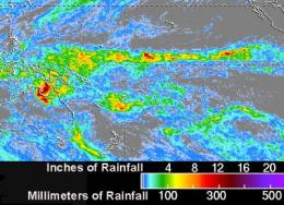 NASA's TRMM satellite maps Cyclone Paul's extreme rainfall totals in Australia