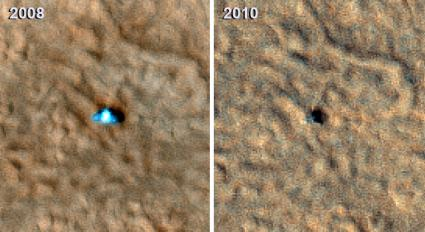 Phoenix Mars Lander is Silent, New Image Shows Damage