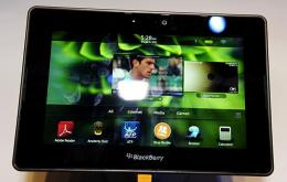 The Blackberry PlayBook tablet is on display at the 2011 International Consumer Electronics Show January 6 in Las Vega