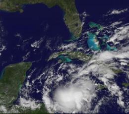 Tropical Storm Richard born in the Caribbean, GOES-13, TRMM watching