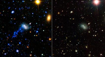 Astronomers Discover Star-Studded Galaxy Tail