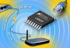 National Semiconductor Introduces First Single-Chip, High-Performance Power over Ethernet Solution