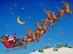 Santa in Sleigh