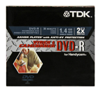 TDK Expands Its Line of Ultra-Durable Armor Plated Recordable DVD Media with the Introduction of 8cm Discs with UV-Protection