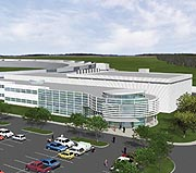 A new building to house the Center for Nanoscale Materials is under construction at Argonne