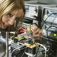 A magnetic biochip measurement setup