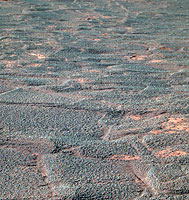 Crater interior from Opportunity via Mars Express
