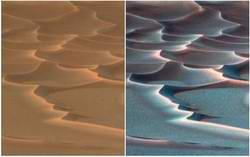 Dazzling Dunes on Mars