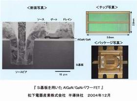 Matsushita Develops the AlGaN/GaN Power FET on Silicon Substrate